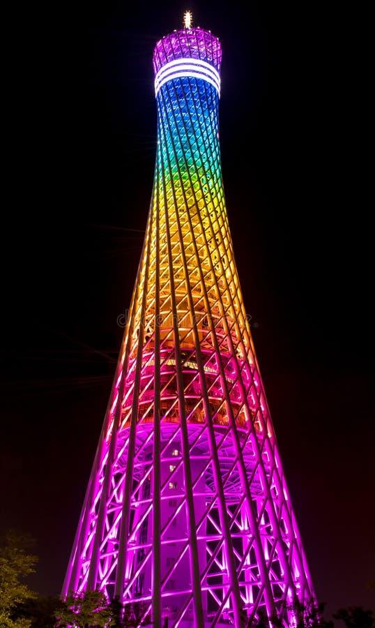 Torre del cantón en la ciudad de Guangzhou imagenes de archivo