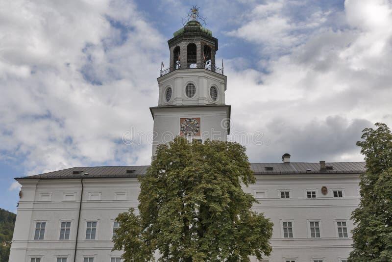 Torre del carillón de la nueva residencia en Salzburg foto de archivo libre de regalías