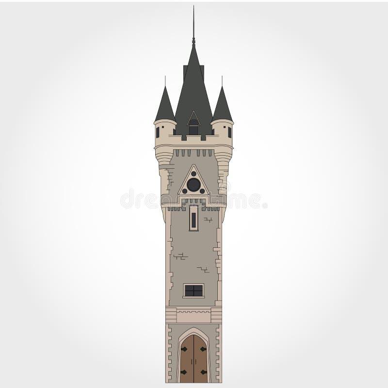 Torre del castello del fumetto fotografie stock libere da diritti