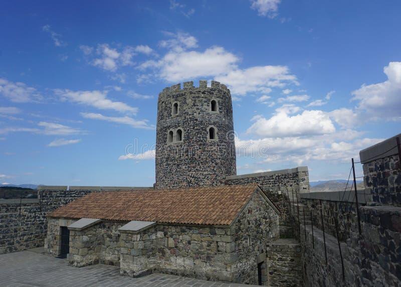 Torre del castello di Akhaltsikhe Rabati fotografia stock