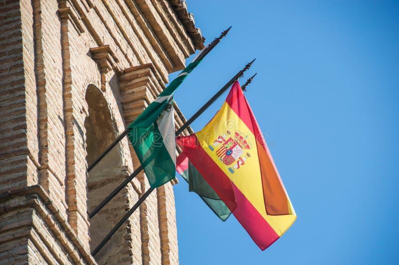 Torre del castello di Alhambra Granada - in Spagna immagini stock libere da diritti