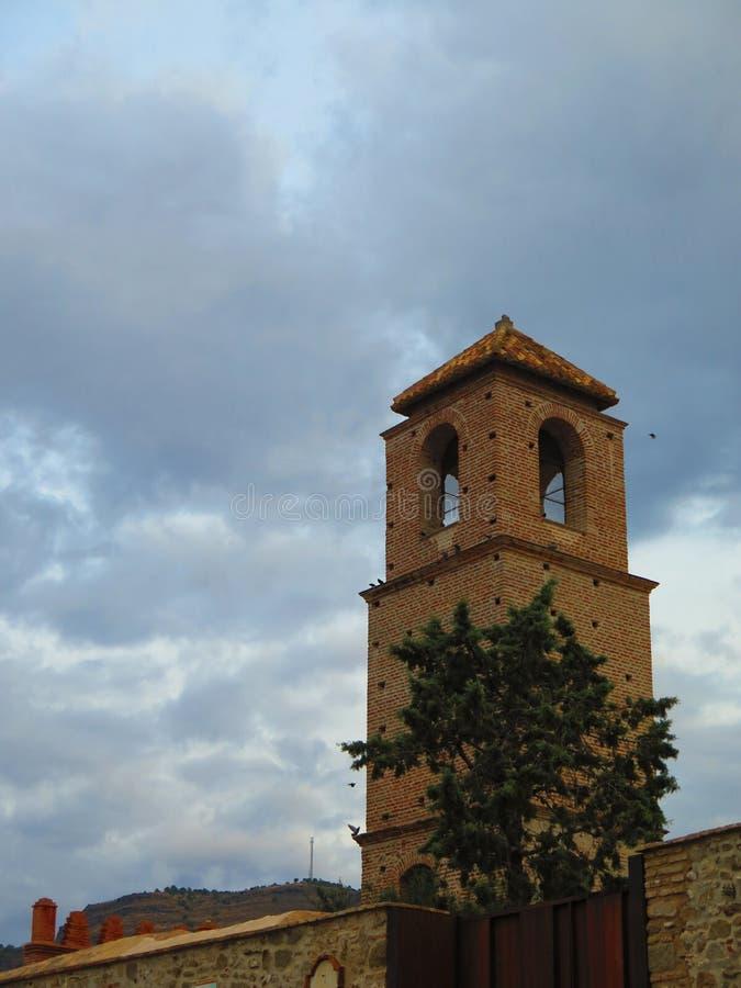 Torre del castello di Alora fotografie stock libere da diritti
