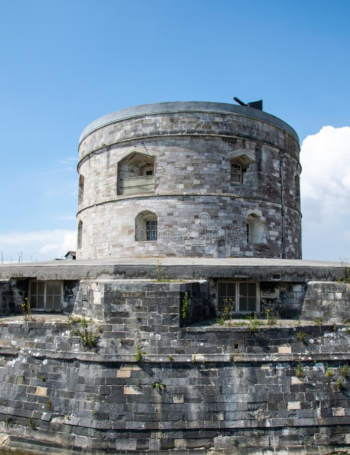 Torre del castello di Calshot fotografie stock