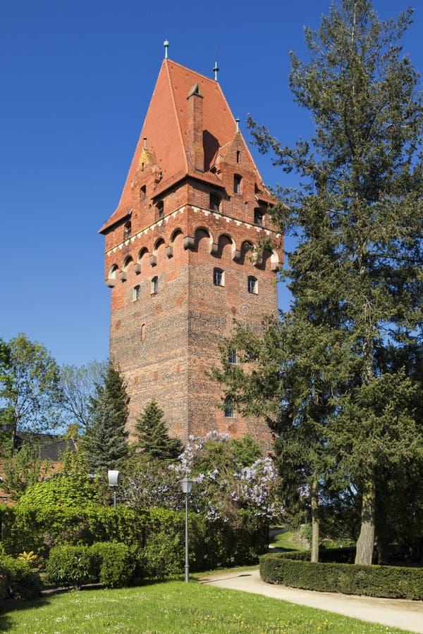 Torre del castello del nde del ¼ di Tangermà immagini stock
