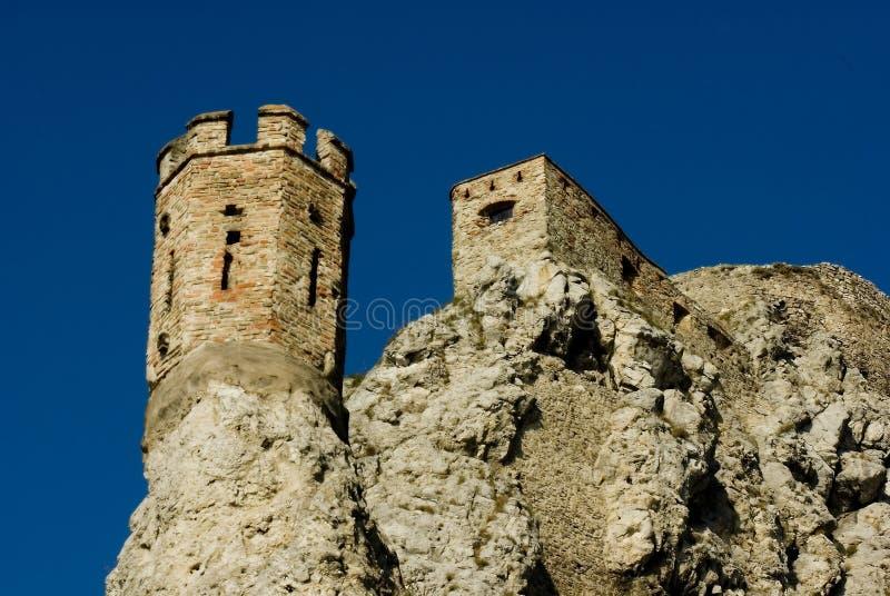 Torre del castillo de Devin foto de archivo libre de regalías