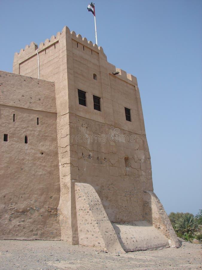 Torre del castillo de Fudjairah fotografía de archivo