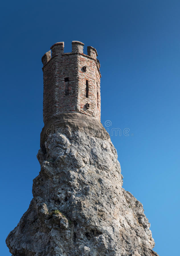 Torre del castillo Devin en Bratislava fotografía de archivo libre de regalías