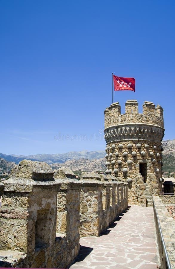Torre del castillo en Madrid imagen de archivo