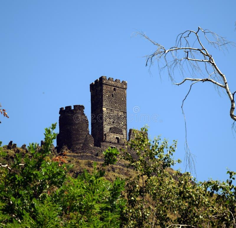 Torre del castillo - Hazmburk imágenes de archivo libres de regalías