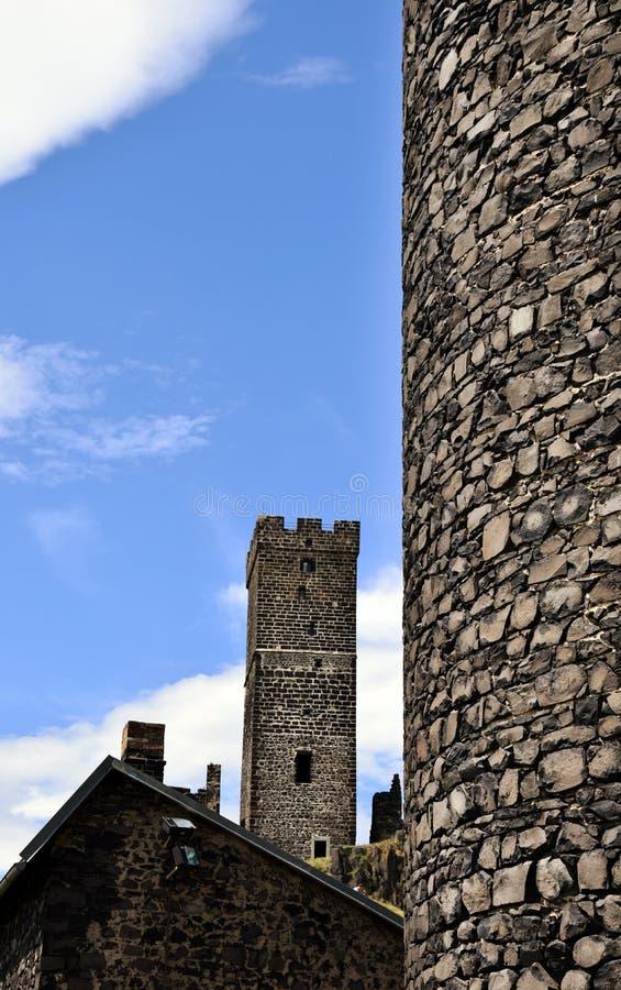 Torre del castillo - Hazmburk fotos de archivo libres de regalías