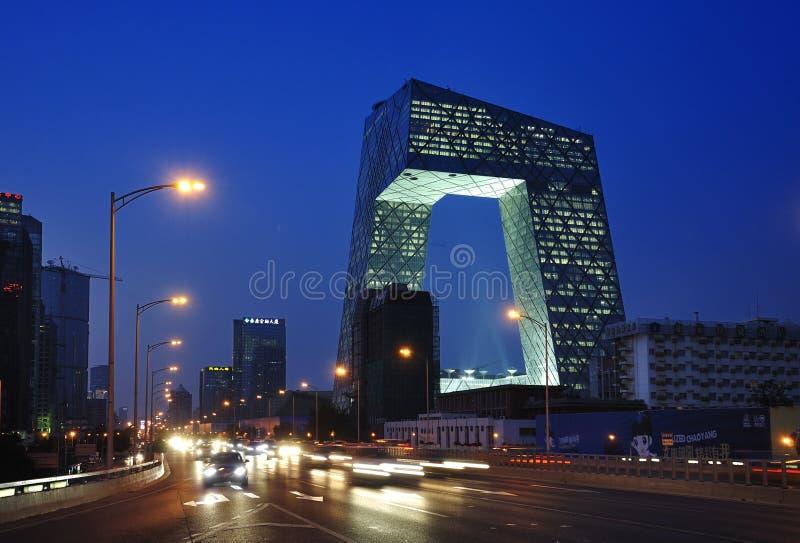 Torre del CCTV de China Pekín fotografía de archivo libre de regalías