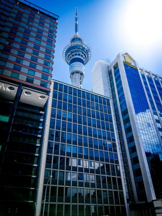 Torre del cielo di Auckland immagini stock