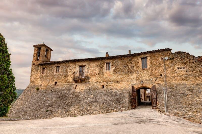 torre del Colle,翁布里亚,意大利城堡  库存照片
