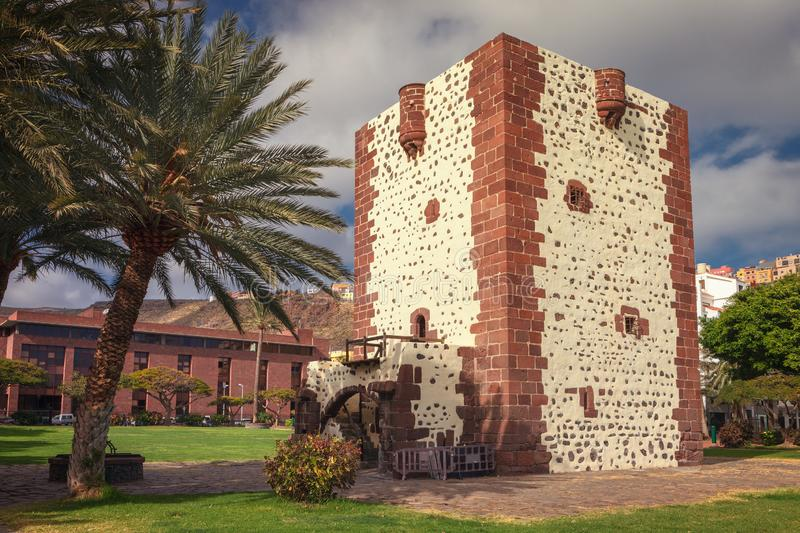 Torre del Conde is a Castilian military-type fortress from the 15th century located in the village of San Sebastián de La Gomera. The Torre del Conde is a royalty free stock images
