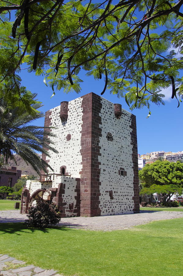 Torre del Conde fort, San Sebastian royalty free stock photo
