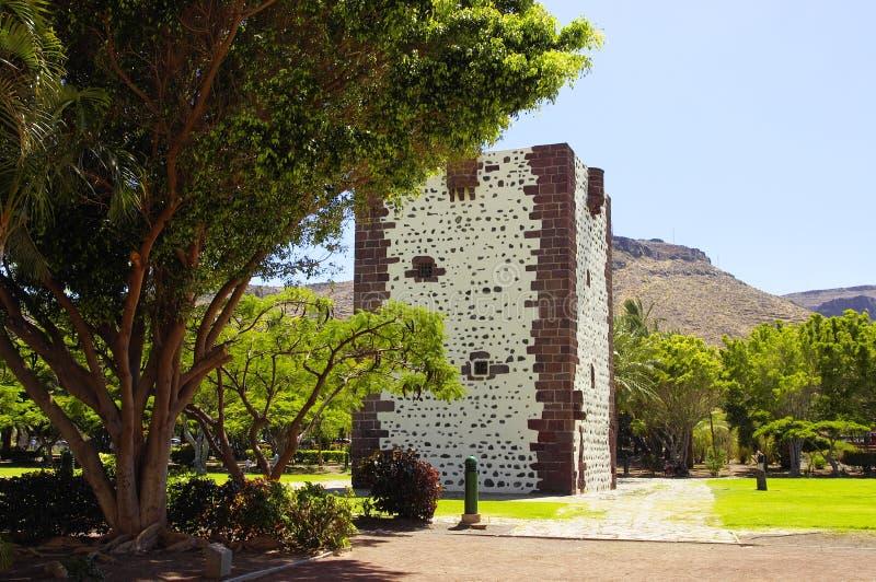 Torre del Conde fort, San Sebastian stock photo