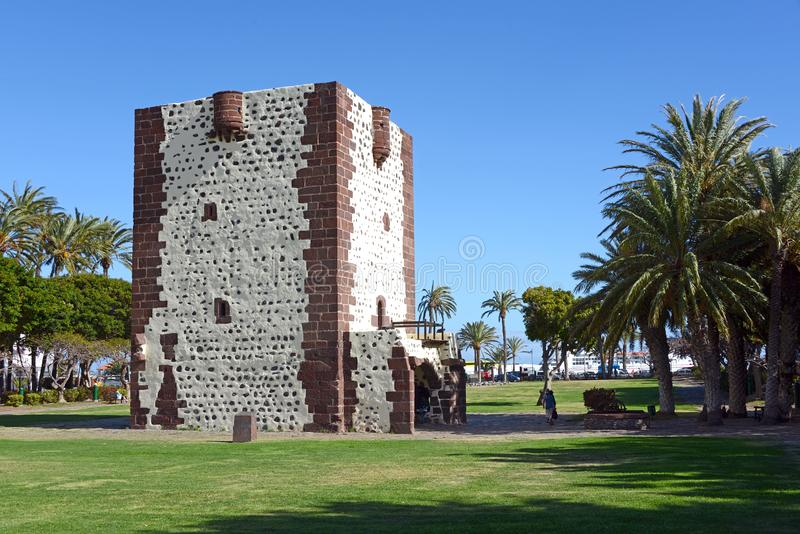 Torre del Conde. The Torre del Conde is a landmark in Gomera`s Capital city San Sebastian royalty free stock image
