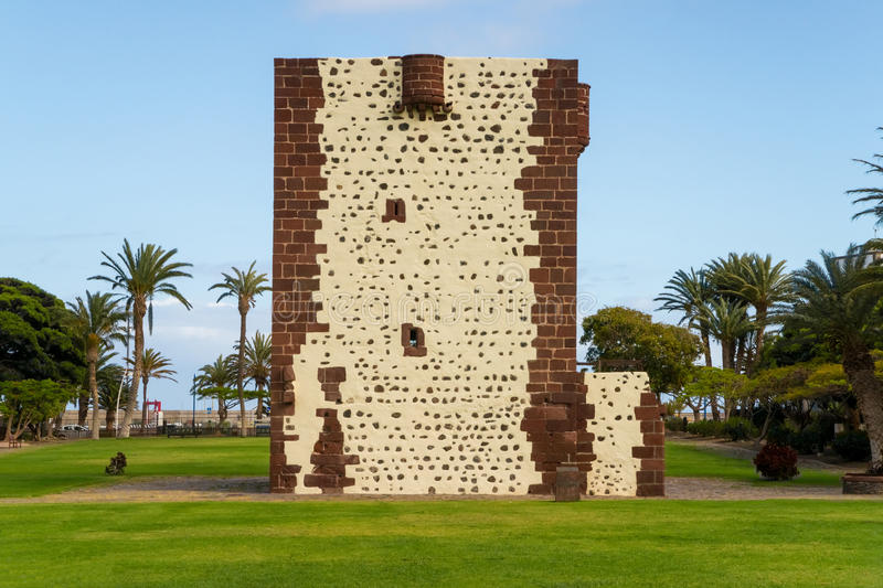 Torre del Conde. The Torre del Conde, the tower of the earl, is the only medieval fortification at the island of La Gomera royalty free stock images