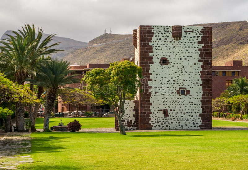 Torre del Conde. The Torre del Conde, the tower of the earl, is the only medieval fortification at the island of La Gomera stock image