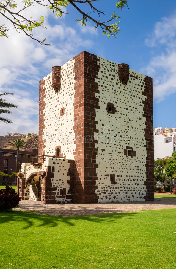 Torre del Conde. The Torre del Conde, the tower of the earl, is the only medieval fortification at the island of La Gomera royalty free stock photo