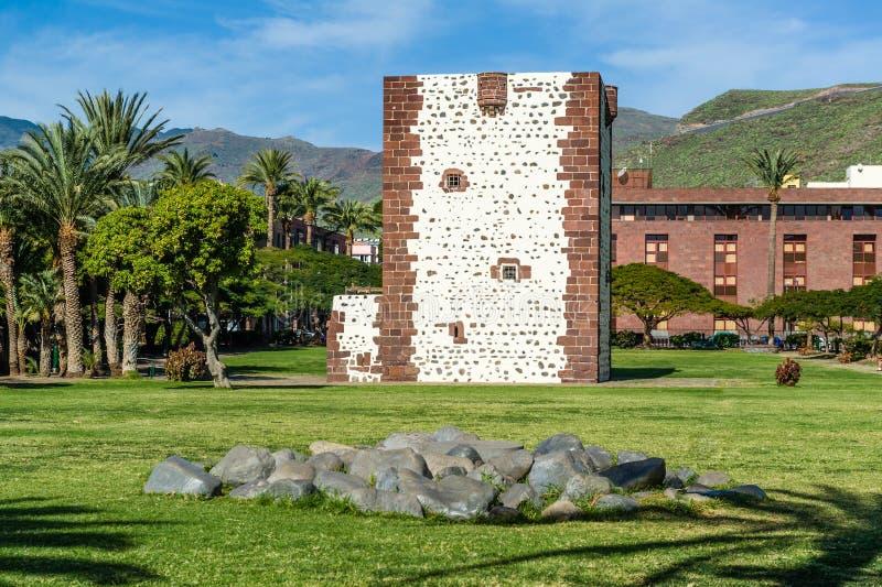 Torre del conde tower in San Sebastian de La Gomera. Canary islands, Spain stock photo