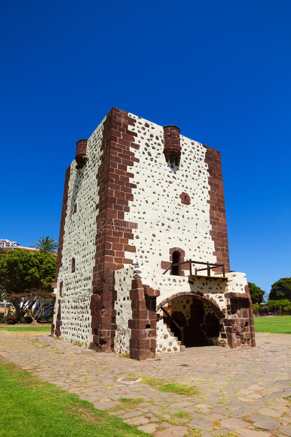 Torre del Conde Tower. In sunny day at La Gomera island, Canary islands, Spain. It was built in 1450 stock images