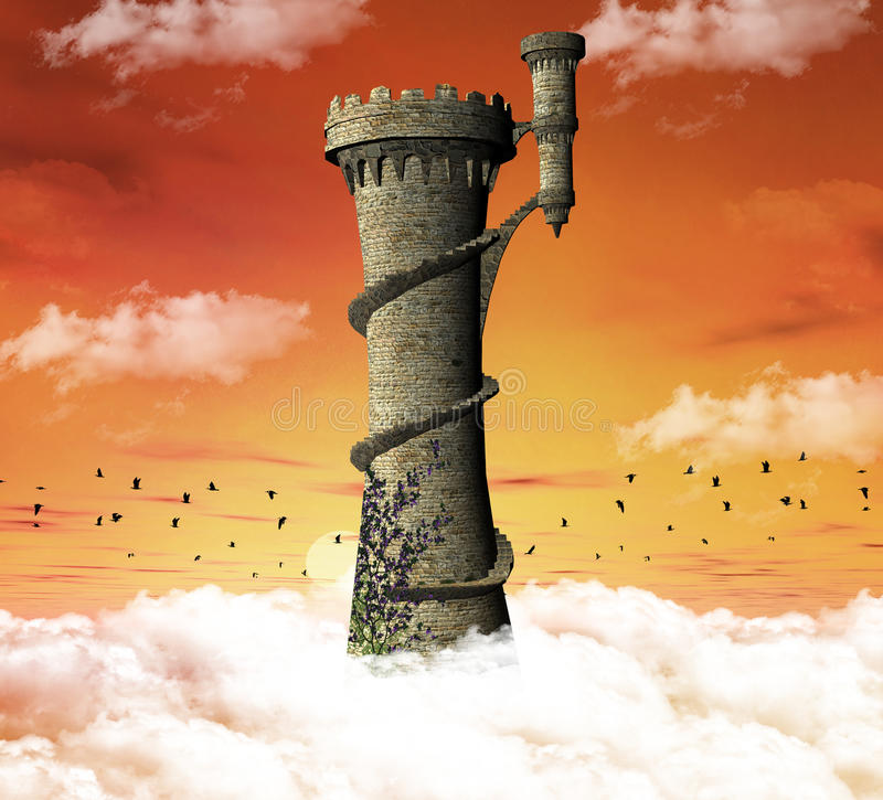 Torre del Dreamland ilustración del vector