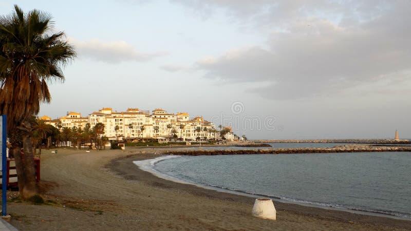 Torre del Duque пляж-Марбель-Андалуси-Испани-Европа стоковое изображение