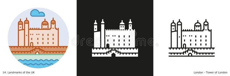 Torre del ejemplo de Londres stock de ilustración