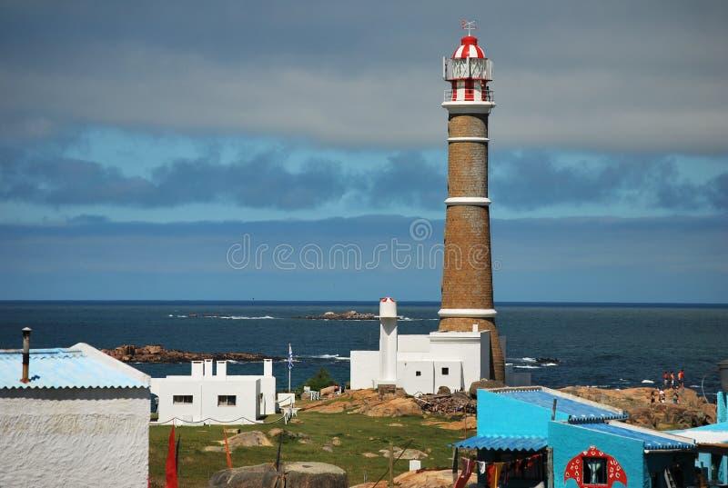 Torre del faro de Cabo Polonio foto de archivo