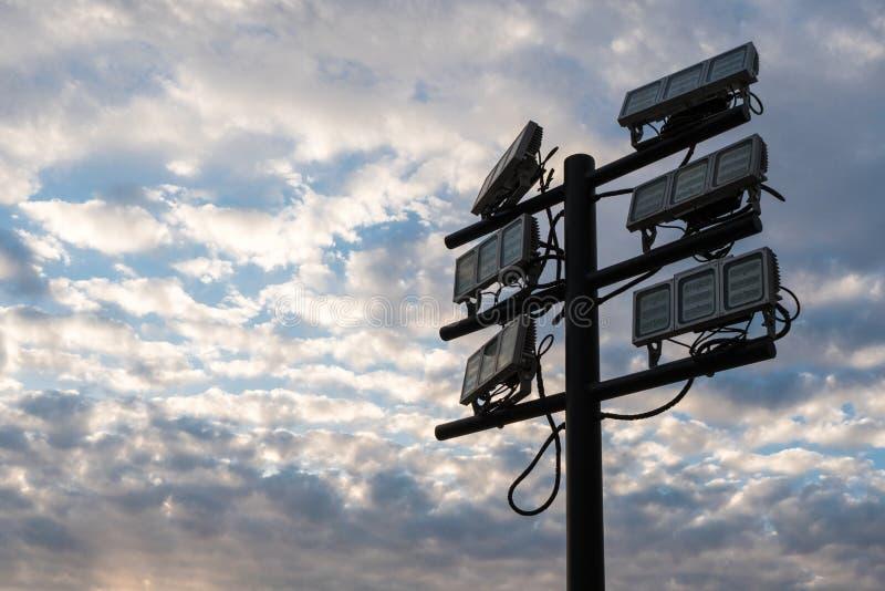 Torre del faro dell'inondazione del LED immagini stock