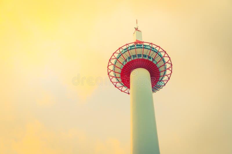 Torre del Giappone Kyoto (Effetto d'annata elaborato immagine filtrato fotografia stock