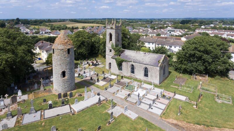 Torre del giro di Dromiskin contea Louth l'irlanda fotografia stock