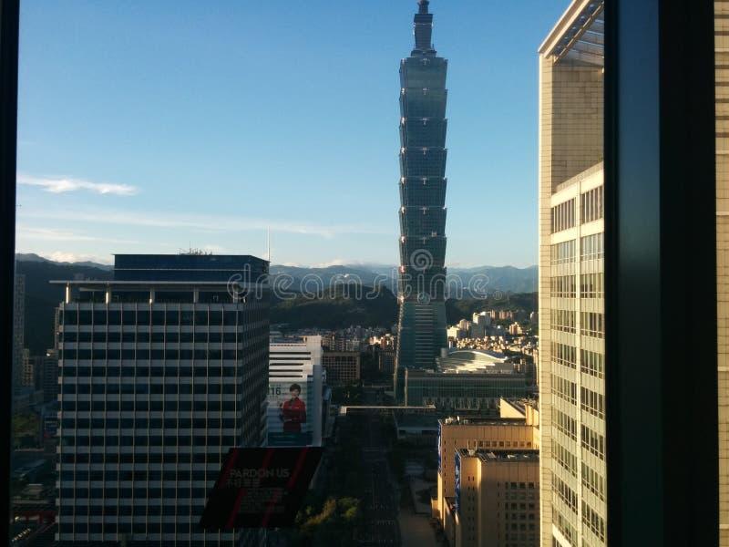 Torre 101 del horizonte de Taipei imagen de archivo libre de regalías