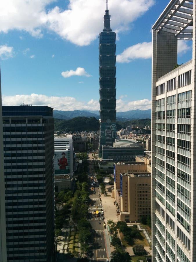 Torre 101 del horizonte de Taipei fotos de archivo libres de regalías