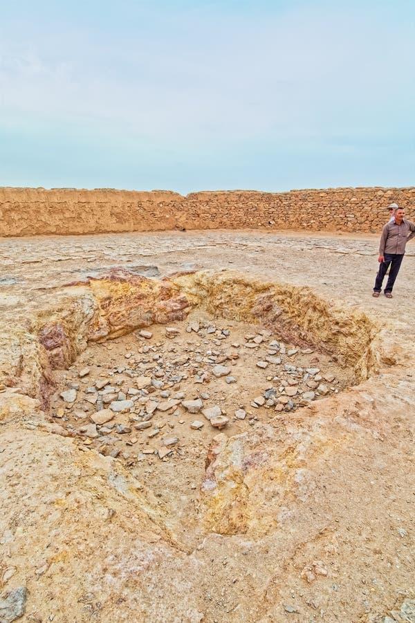 Torre del hoyo de la central del silencio foto de archivo