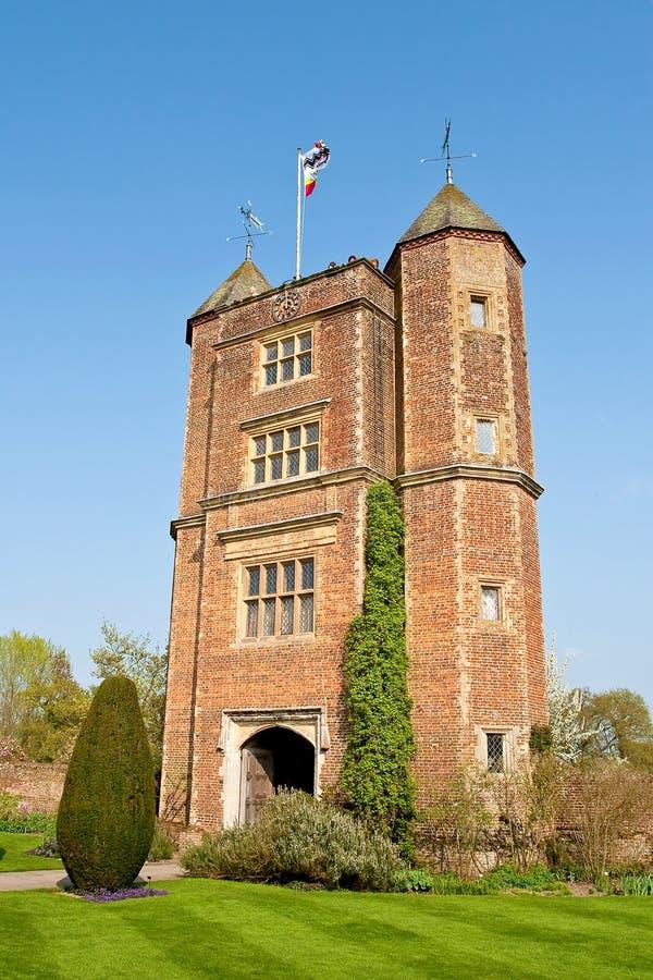 Torre del jardín del castillo de Sissinghurst foto de archivo libre de regalías
