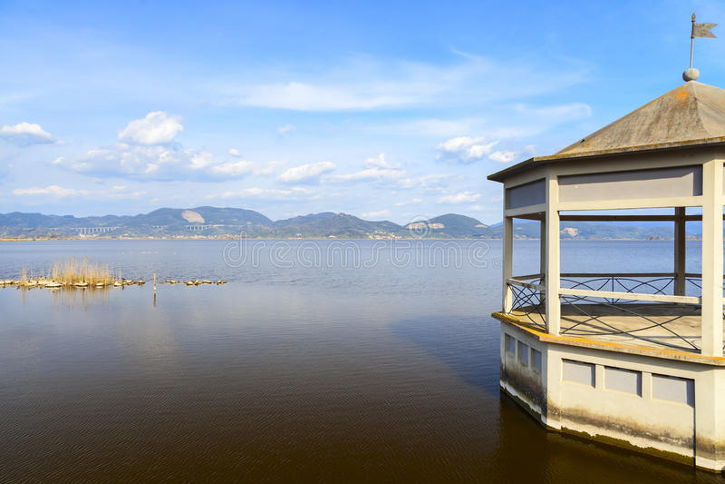 Torre del lago景色 免版税库存照片