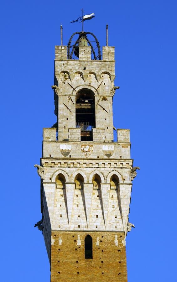 Torre del Mangia à Sienne images libres de droits
