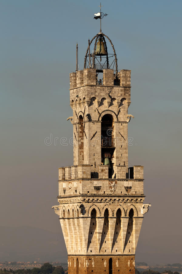 Download Torre del Mangia stock image. Image of town, gothic, style - 26212395