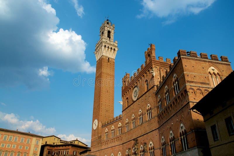 Torre Del Mangia - Siena lizenzfreies stockfoto