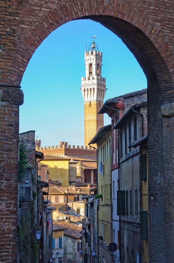 Torre del Mangia - Siena fotografie stock libere da diritti