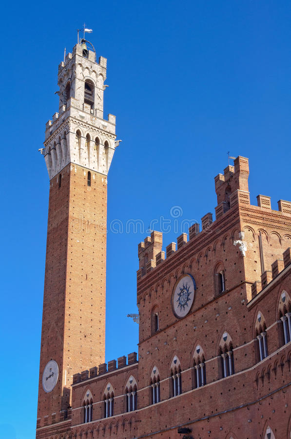 Torre del Mangia - Siena fotografia stock