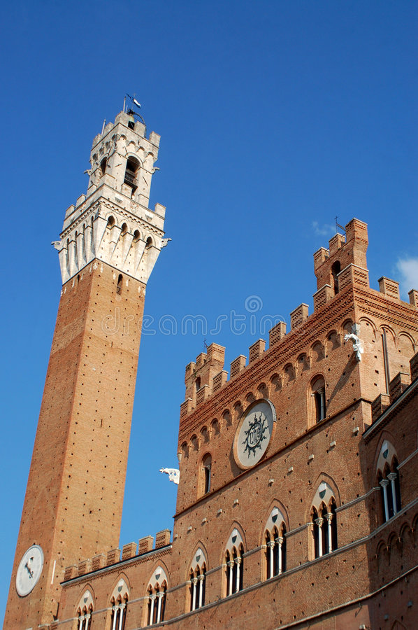 Download Torre Del Mangia, Siena, Italy Stock Image - Image: 4541525