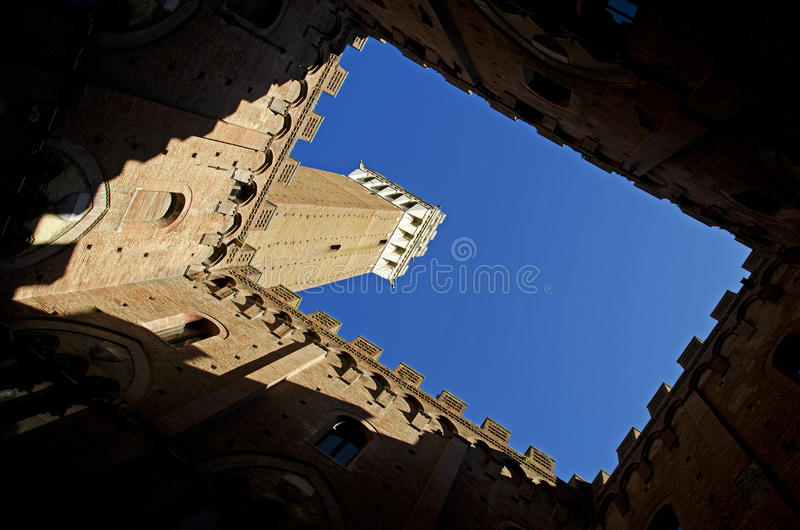 Torre del Mangia, Siena (Italy) stock images