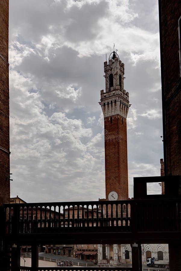 Torre del Mangia Tower Palazzo Publico, Sienne, Toscane, Toscane, Italie, Italie photographie stock libre de droits