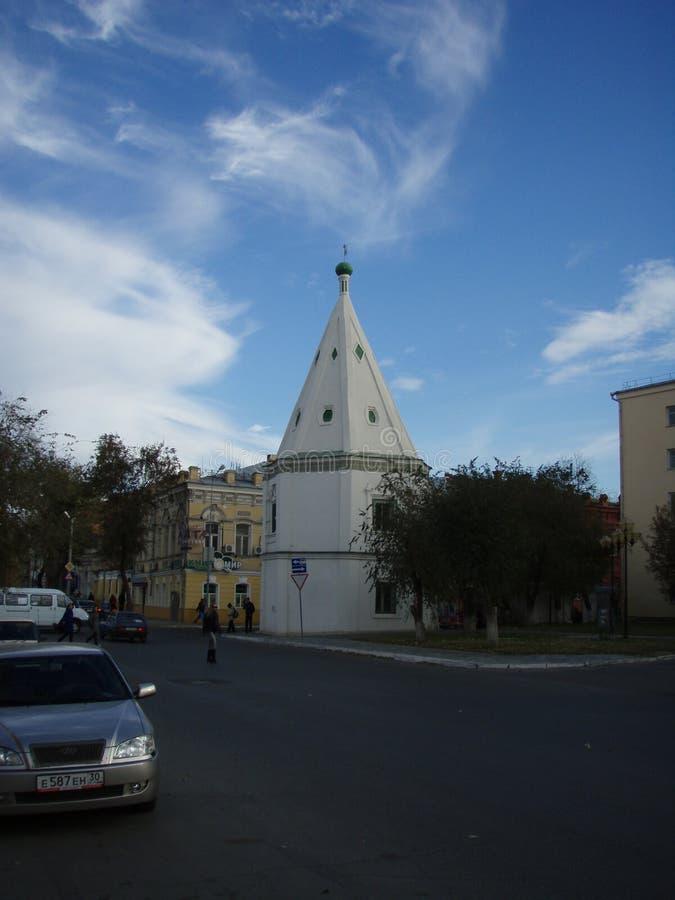 Torre del monastero 1607 di Spaso-Preobraženskij fotografie stock