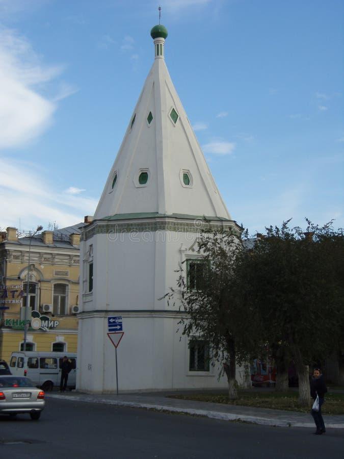 Torre del monastero 1607 di Spaso-Preobraženskij fotografia stock