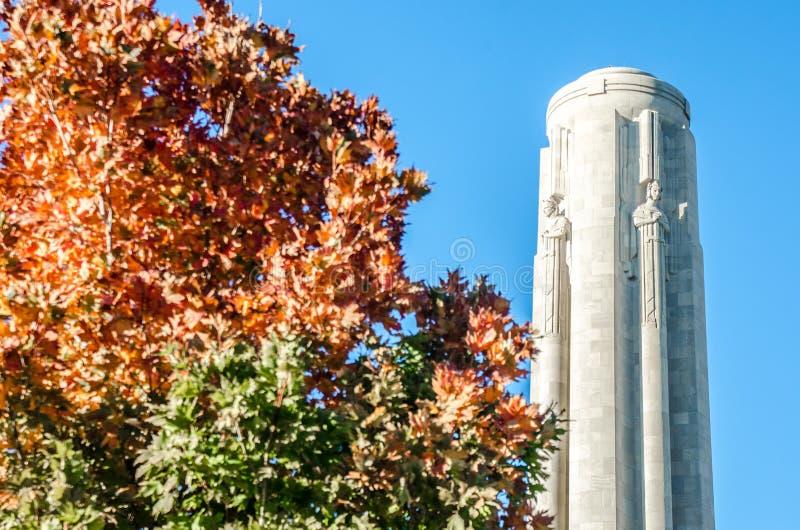 Torre del museo di Liberty Memorial National World War I fotografia stock libera da diritti