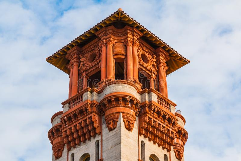 Torre del museo di Lightner, St Augustine, U.S.A. immagine stock